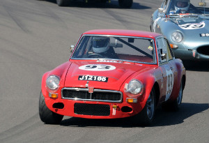 MGC race car in action